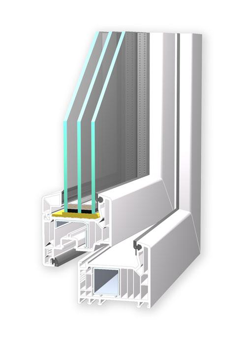 Detailaufnahme eines Fensterrahmens
